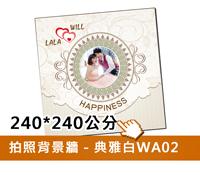 拍照背景牆(白A02)240w