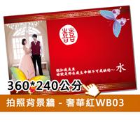 拍照背景牆(紅B03)360w
