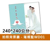 拍照背景牆(藍D01)240w